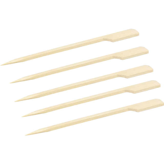 Biodore® Prikker, cocktailprikker, Teppo Skewer, Bamboe, 150mm, naturel 1