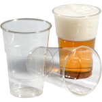 Glas, bier-/frisdrankglas, tulp, PET, 250ml, 106mm, transparant