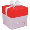 LOVLY® Box, Love and hearts, pop-up, 10x10x10cm, lila/Rood